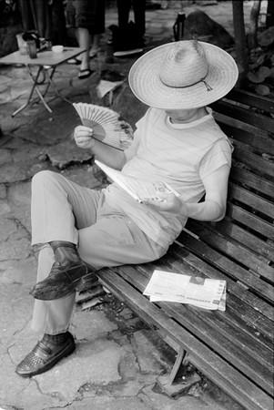 36) Man Reading