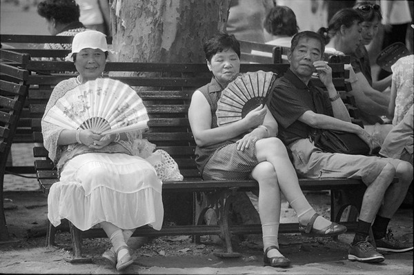 24) Woman with Hat / Fan