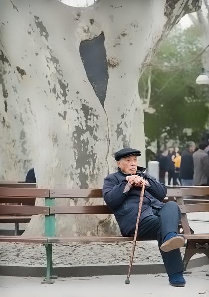 55) Man on Bench