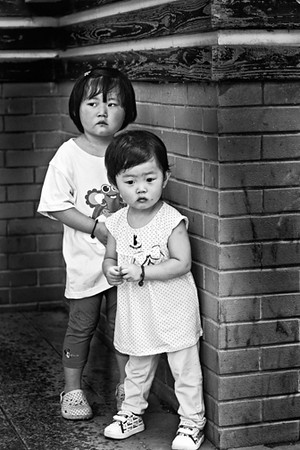 25) 	Two Young Girls 1  BW