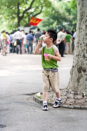 22)	Boy Blowing Bubbles 1