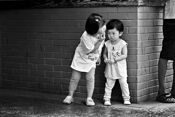 26) 	Two Young Girls 2  BW