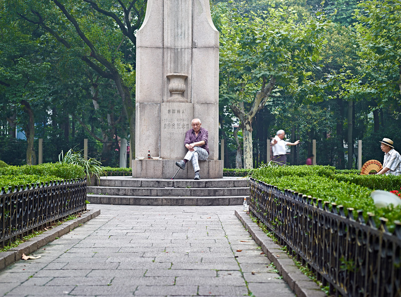 29) 	Man sitting in Park