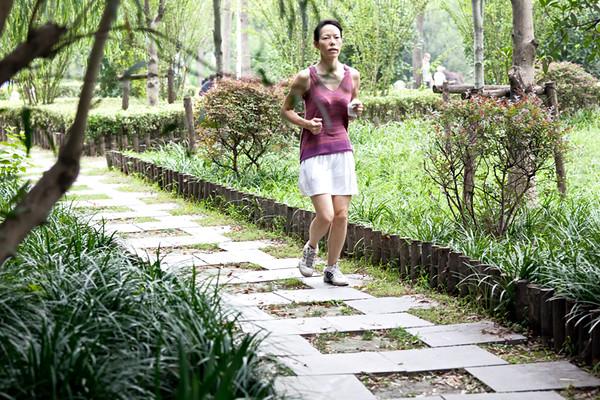 5) Young Women Running
