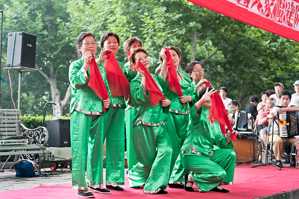 7) Green Women w Red Scarf 1