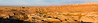 Panorama of South Dakota Badlands at Sunrise