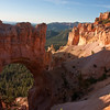 Natural Bridge formation in Bryce Canyon National Park in Utah, in early morning light.