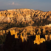 Sunset lighting at Sunset Point in Bryce Canyon National Park in Utah. This is the most frequently photographed viewpoint for sunset in the park.