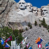 Mount Rushmore National Monument in South Dakota. Famous sculptures of 4 US presidents - Washington, Jefferson, Lincoln, and Theodore Roosevelt - draws tourists from all over the world.