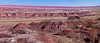 Panorama of the Painted Desert in Petrified Forest National Park in Arizona.