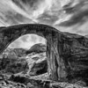 Black and White of Rainbow Bridge National Monument is the world's largest known natural bridge. It is sacred to the members of several Native American tribes.