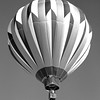 Hot Air Balloons at White Sands National Monument in New Mexico. Black and White.