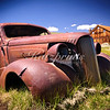 A rusty old car slowly decays in the ghost town of Bodie on the Eastern slopes of the Sierra.
