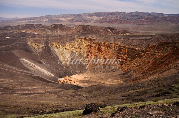 The Ubehebe crater is one of Death Valley's many interesting geological places to visit.