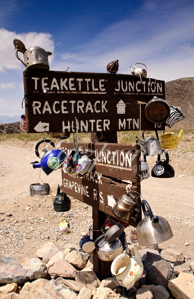 Teakettle Junction is a famous location in Death Valley National Park.