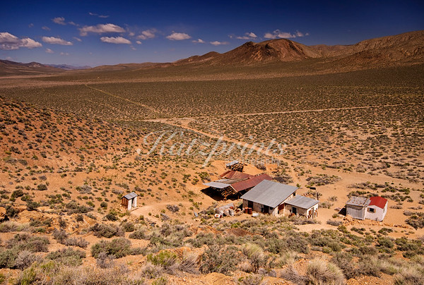 The remnants of the Aguereberry homestead and the unpaved roads that lead there are the only signs of civilization in this remote part of Death Valley National Park.