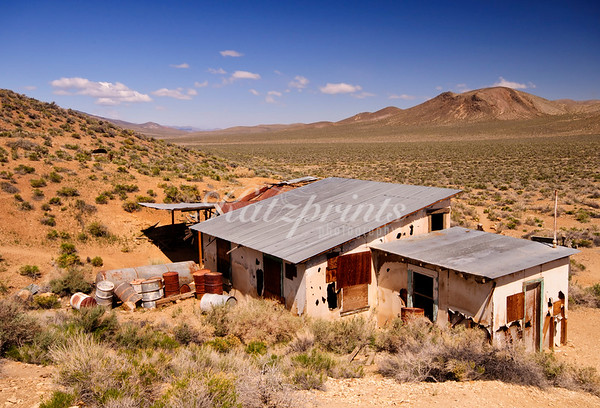 Wind, weather, and time have left their mark on the old Aguereberry homestead in Death Valley National Park.
