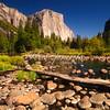 El Cap and river rocks