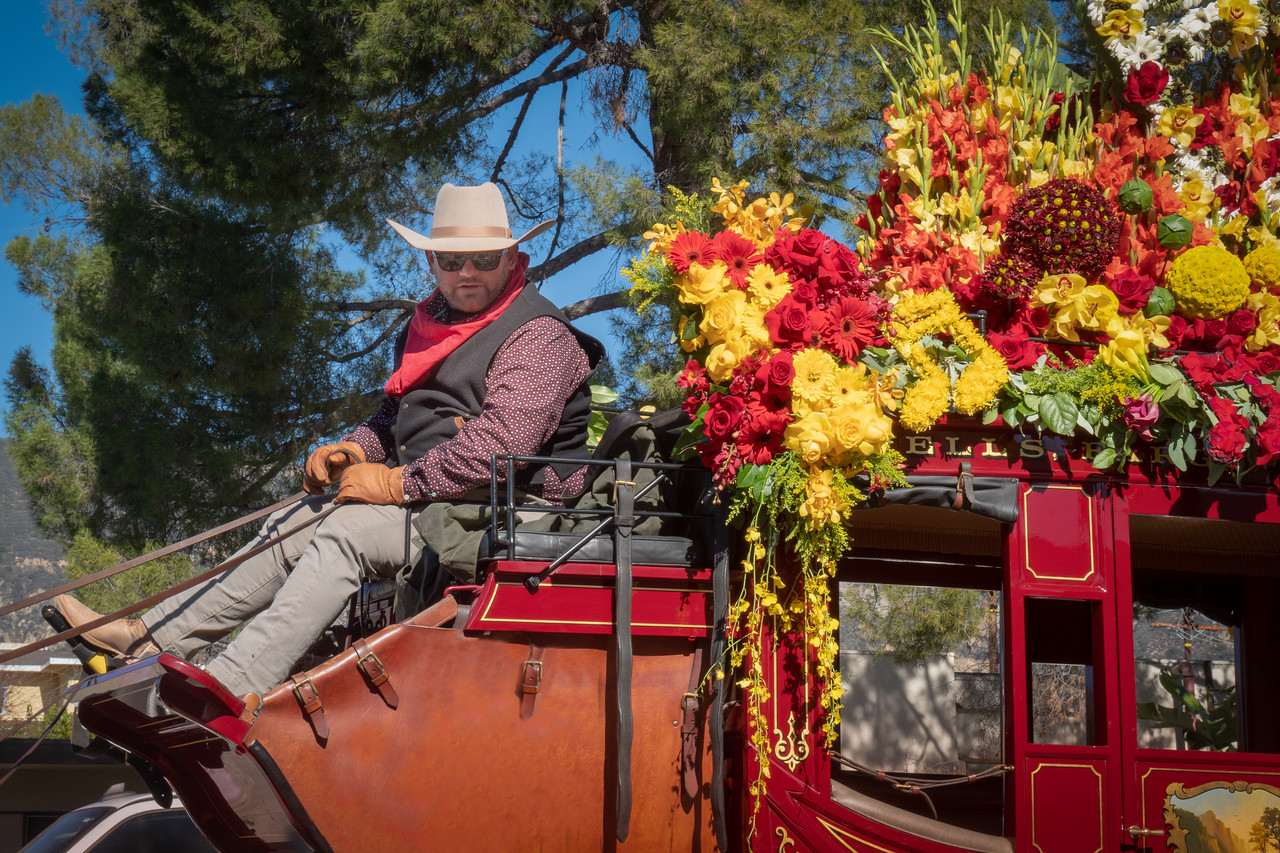 Wells Fargo Stagecoach after the Rose Parade