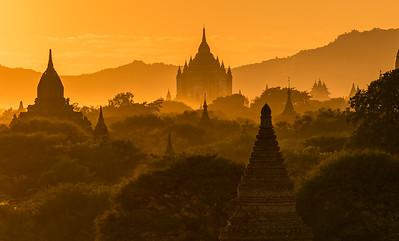 Magical Light over Bagan