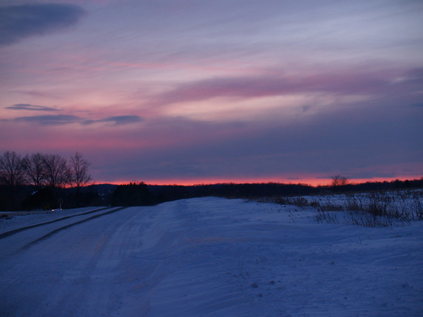 Snowy Twilight 2  - Bauman Rd, Steinsburg