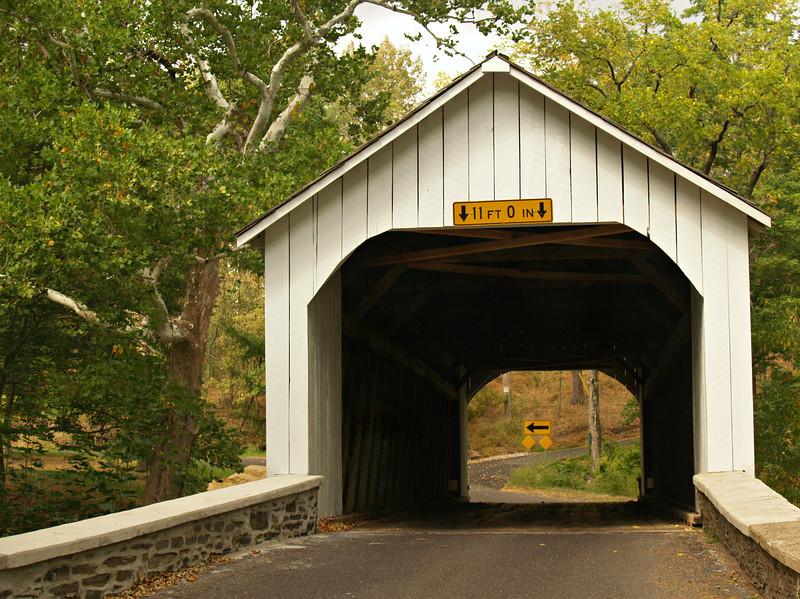 Through Loux Bridge & a Sharp Left