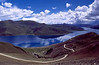 Dirt Road at Lake Yamdrok Tso, one of the highest lakes in the world - Tibet