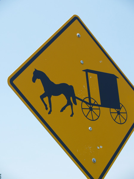 Sign 9 - Amish buggy caution sign