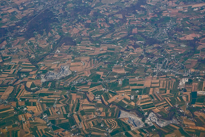Farm patterns from the air, probably over Pennsylvania