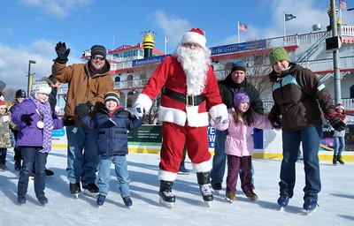 Penn's Landing Ice Rink with Santa visit