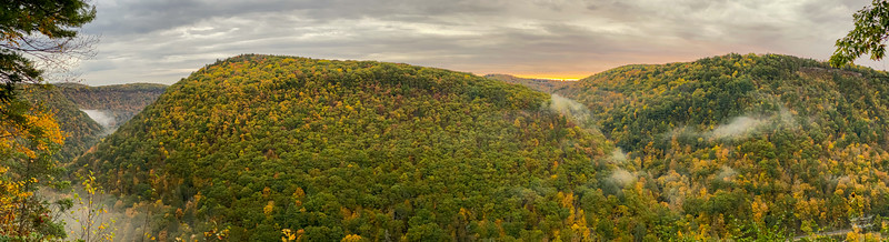 Panoramic View of  Pennsylvania's Grand Canyon
