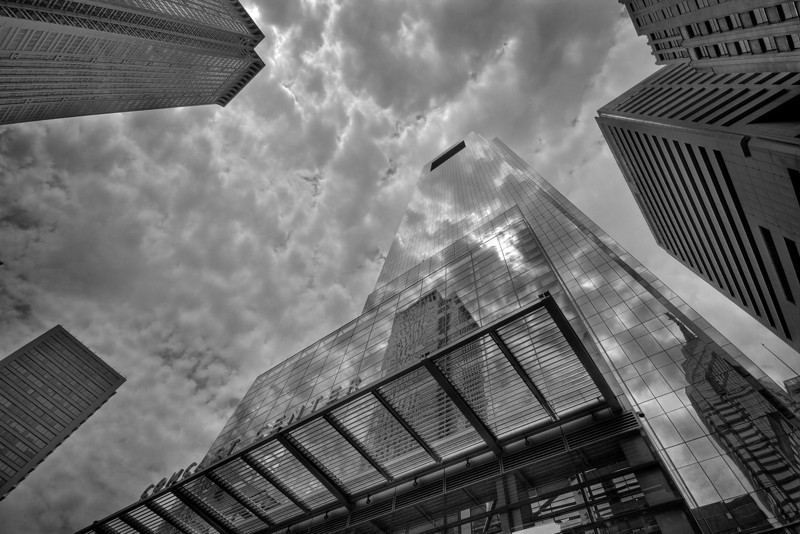 Comcast Center, Cloud Reflections - Philadelphia, Pennsylvania