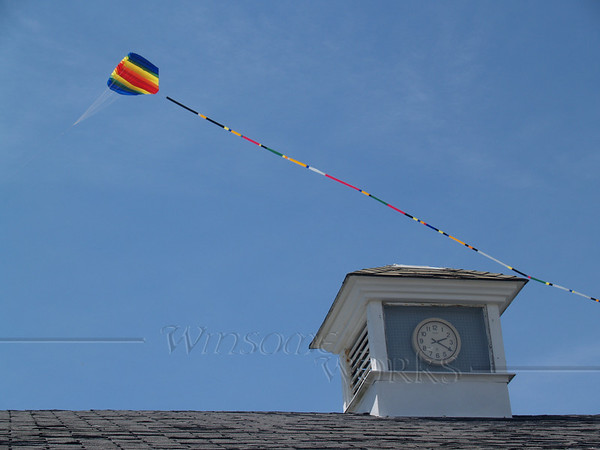 Kite Flying over Pavilion