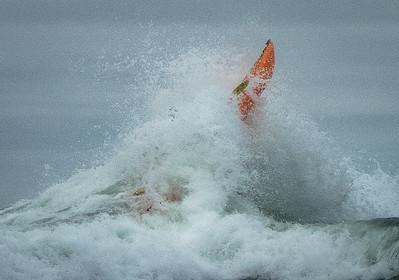 Kayaking Chaos At Mavericks  - Half Moon Bay CA