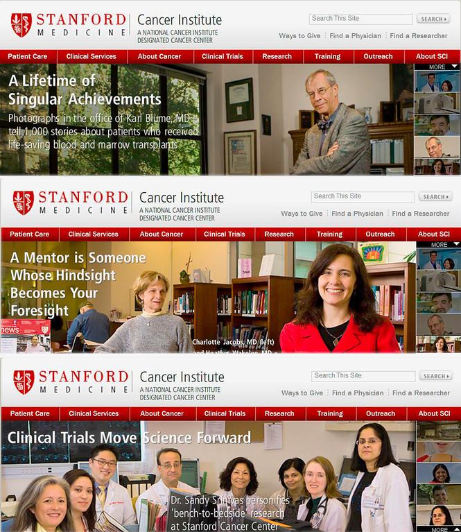 Stanford Cancer Center website banners