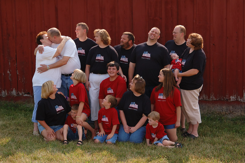 Family Photography By The Ol' Red Barn