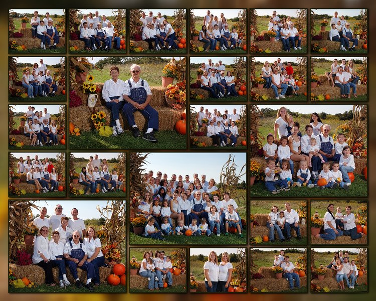 Allen Family Fall Portrait Collage<br /> Co-Bear Photography<br /> Crop Ratio = 16x20 or similar