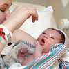 Mom Ashley and her newborn baby Kaydance share some cute moments.