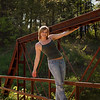 Senior Rechelle Hanging On The Rusty Iron Bridge<br /> Location: Near Mark Twain Lake Rural Perry, Missouri