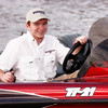 Champ wanted his Senior Portrait done while driving his speed boat on Mark Twain Lake