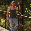 On location near another favorite iron bridge senior portrait