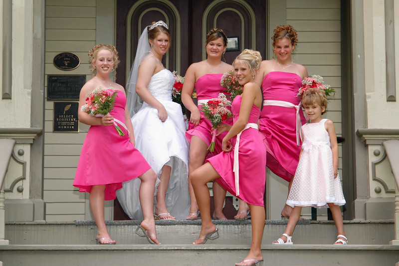 Bridal Party ~ We got legs pose<br /> Captured in front of Garth Mansion in Hannibal, MO