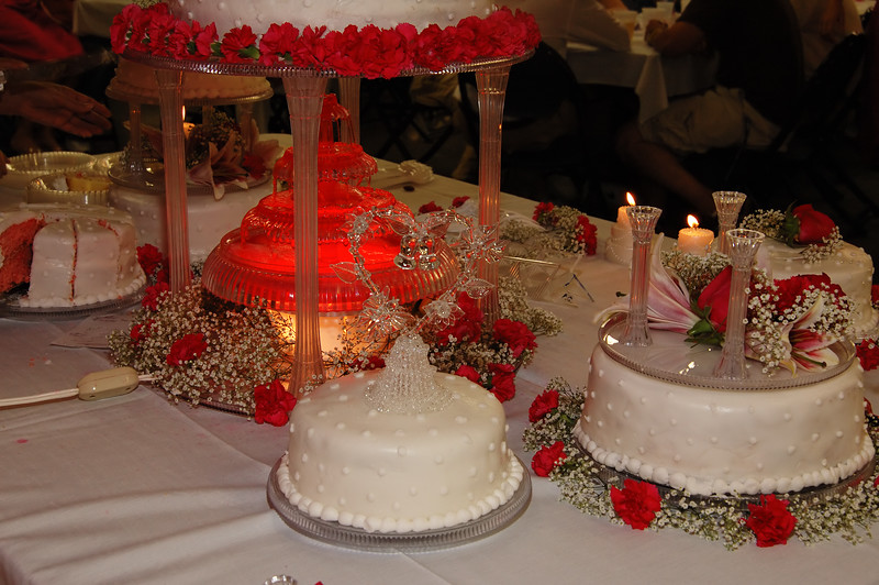 Wedding cake fountain