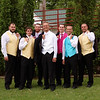 Groom and Groomsmen Outdoor Looking Cool While Waiting For The Ceremony To Begin<br /> Don't you love those colorful vests!