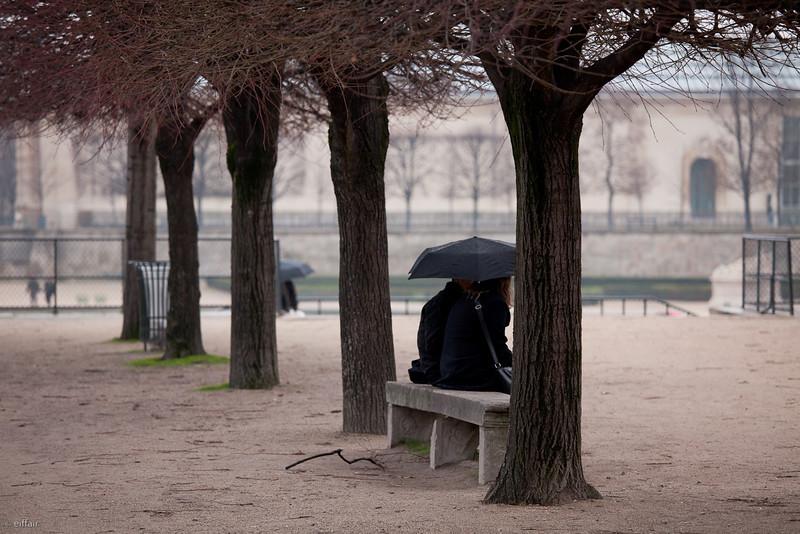 Pluie sur le Louvre