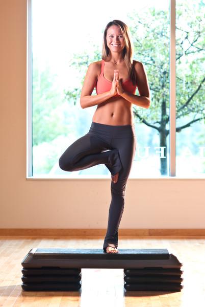 Amy Schneider of Cleveland Yoga editorial lifestyle portrait.  Ohio Sport and Fitness Magazine