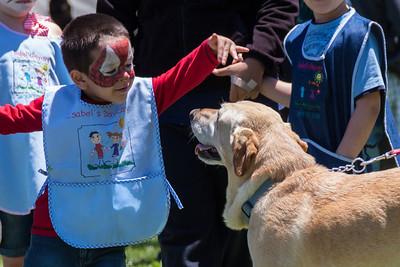 Photojournalism: Mellow dog, happy kid.