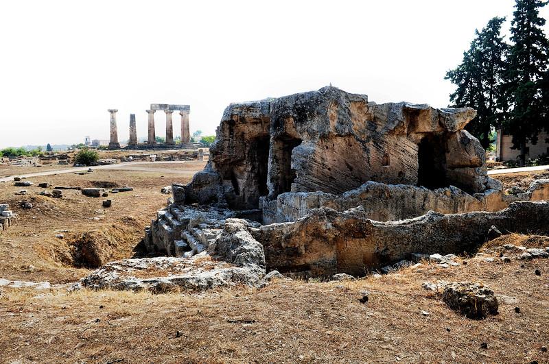 Remnants of Biblical Corinth / Greece