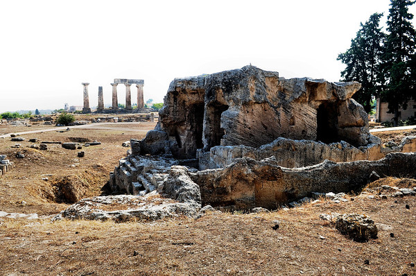 Remnants of Biblical Corinth / Greece