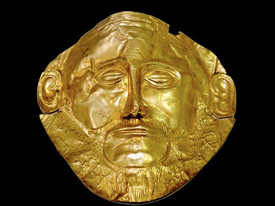 Death Mask  of Agamemnon - Mycenae / Greece